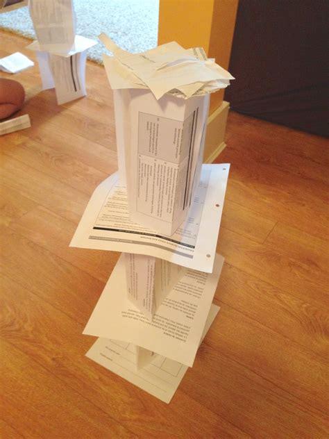 paper tower challenge ingridscienceca