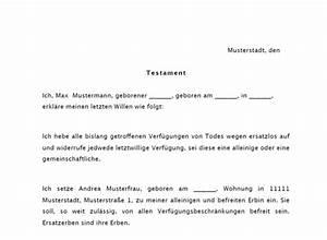 Erbe Bei Scheidung : testament als muster zum download ~ Watch28wear.com Haus und Dekorationen