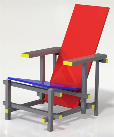 Rietveld Sedia And Blue Chair