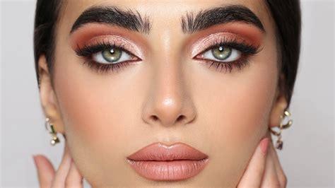 rose gold eyes tutorial hindash youtube