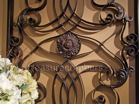 tuscan wall decor metal large forged metal wall grille tuscan grill xl 61 panel