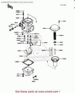 Kawasaki Kz1100a2 Shaft 1982 Usa Canada Carburetor Parts