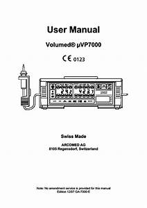 Volumed  U03bcvp7000 User Manual Edition 12