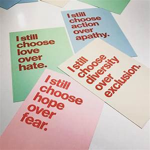 I still choose ... Hope Over Fear Quotes