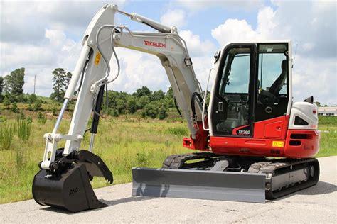takeuchi excavator rental  ton  hydraulic thumb