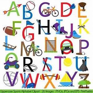 sports alphabet font with sports letters clipart clip art With sports themed letter art