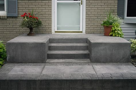 steps concrete  decorative goodmanson construction