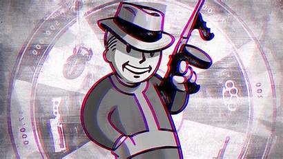 Vault Fallout Boy Vegas 3d Anaglyph Wallpapers