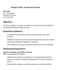 Junior Accountant Resume Templates by 21 Accountant Resume Templates Free Premium