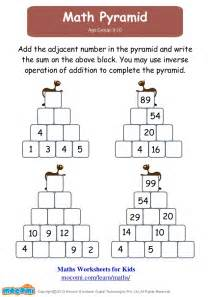 missing number worksheets ks2 match pyramid maths worksheets for mocomi