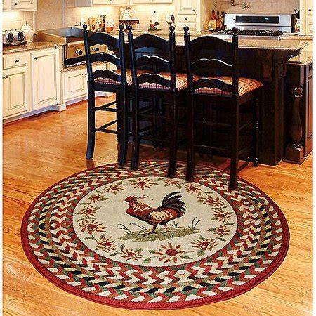 kitchen rugs walmart orian rooster braid area rug walmart