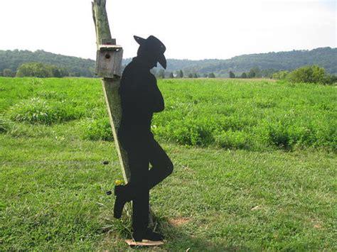 sleeping cowboy metal western wall yard art silhouette life