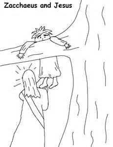 coloring page printable version - Jesus Zacchaeus Coloring Page