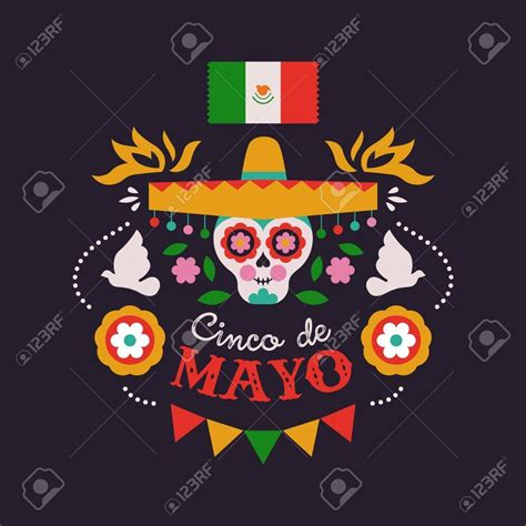 Happy Cinco de Mayo greeting card illustration for Mexican ...