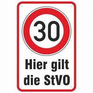 6 Km H Schild : schild hier gilt die stvo 30 km h fahren 3mm alu ~ Jslefanu.com Haus und Dekorationen