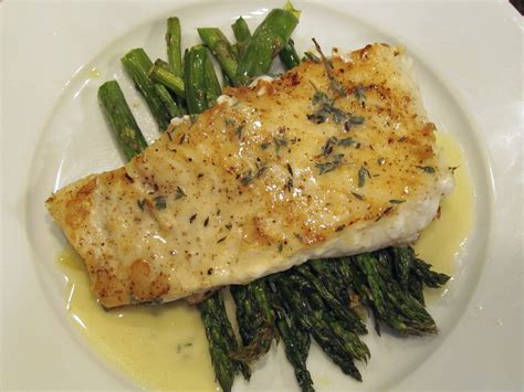 halibut recipe pan seared halibut with roasted asparagus and a beurre blanc sauce youtube