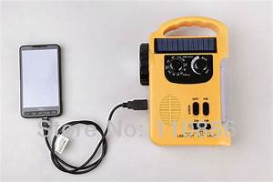 Solar Radio  Hand Crank Flashlight  Emergency Lights
