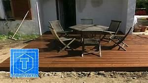 Terrasse Selber Bauen Holz : holz terrasse selber bauen tooltown heimwerken youtube ~ Markanthonyermac.com Haus und Dekorationen