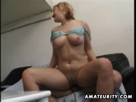 busty amateur girlfriend homemade fucking with facial