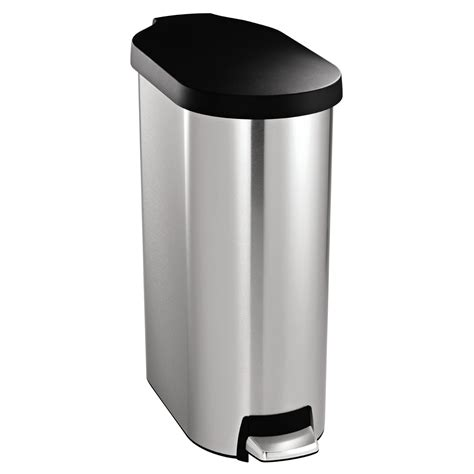 kitchen garbage cans simplehuman slim step can 12 gallon trash can kitchen