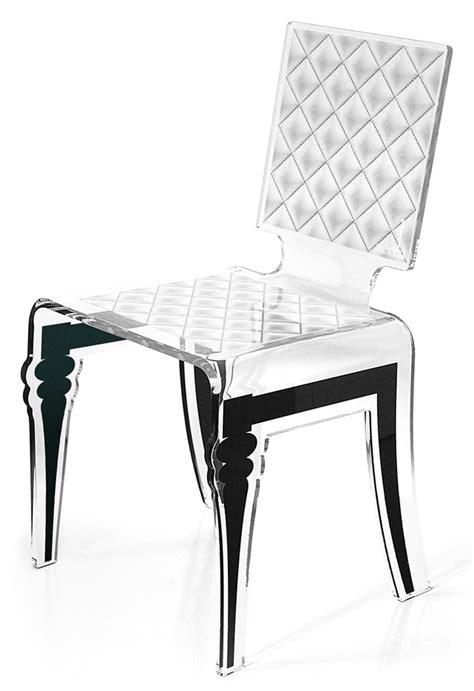 chaise en plexi chaise baroque en plexiglas