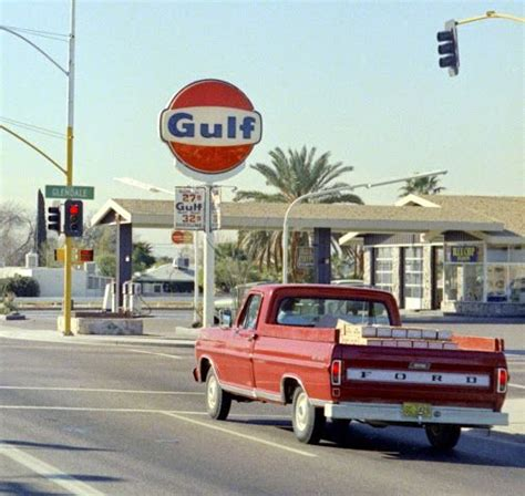 gulf gas station   early   street