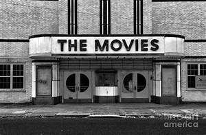 The Movies - Black And White Photograph by Paul Ward