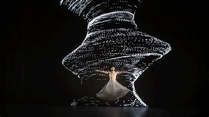 Dance Movement Digital Air Projection Performance Interactive