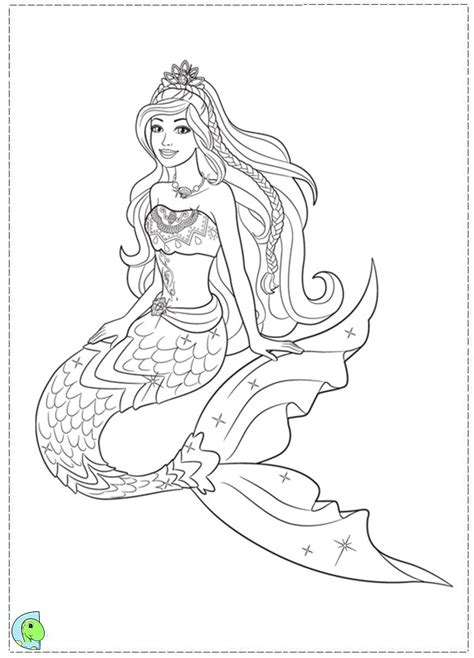 pretty mermaid pages coloring pages