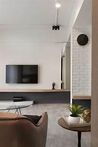 Fernseher An Der Wand : great wohnzimmer gestaltung der wand hinter dem fernseher with gestalten wohnzimmer gestaltung ~ Sanjose-hotels-ca.com Haus und Dekorationen
