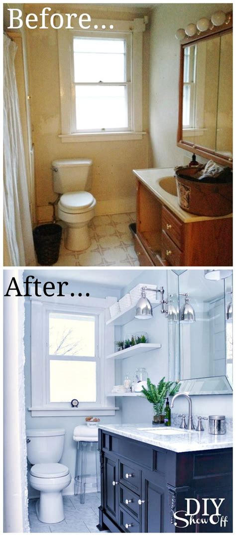 small shower tile bathroom before and after diy diy