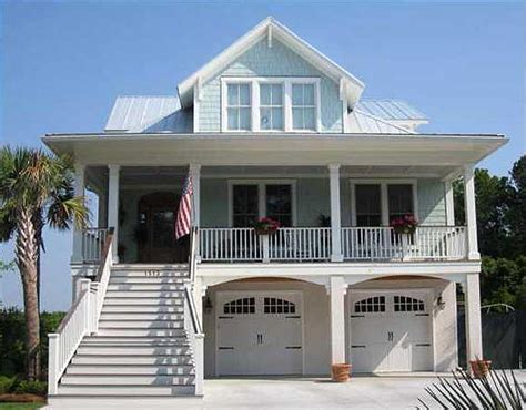 Narrow Lot Beach House Plan 15035NC Architectural