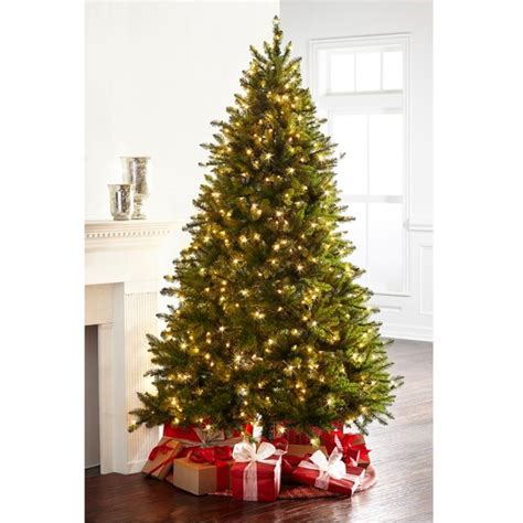 ashland pre lit windham spruce 7 5 ft pre lit green hartford pine artificial tree clear lights by ashland