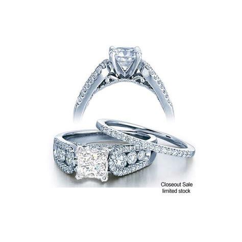 1 00 carat certified princess cut bridal ring 10k white gold jeenjewels