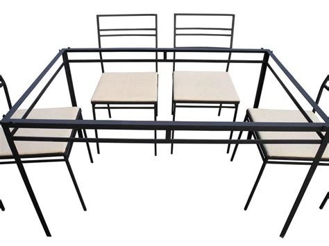 indoor outdoor wrought iron dining set of six chairs and