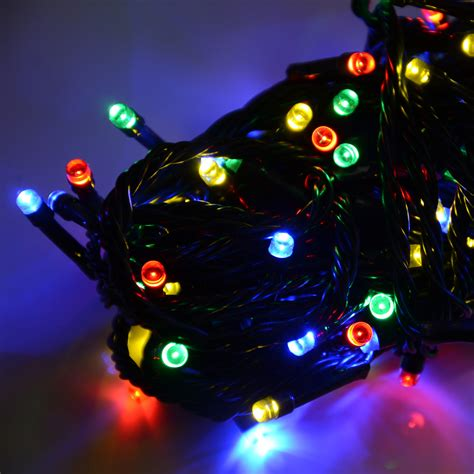 battery operated christmas 100 led lights with 8 functions multi