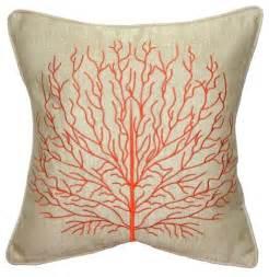 pillow decor coral 17 x 17 throw pillow orange style decorative pillows by