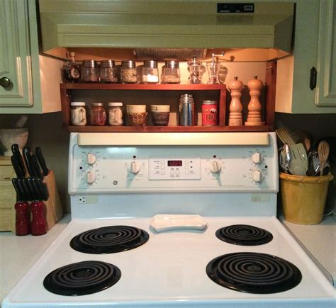Spice Rack Stove by Diy Above Stove Spice Rack Made Of 1 Quot X4 Quot Spruce Fits
