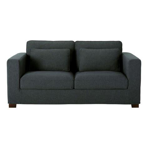 canapé en tissus canapé 3 places en tissu anthracite maisons du monde