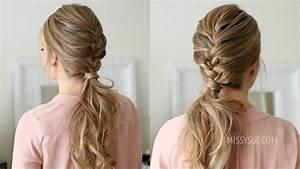 French Braid Ponytail   Missy Sue - YouTube