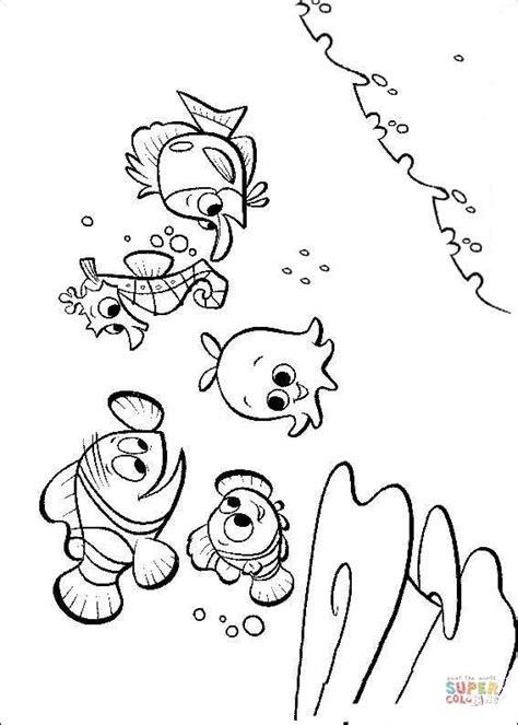 dibujo de los amigos de nemo  colorear dibujos  colorear imprimir gratis