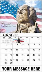 August Monthly Calendar 2020 2020 Promotional Calendar America The Beautiful Us