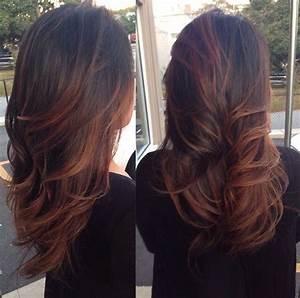 Balayage Braun Rot : die besten 25 ombre hair braun rot ideen auf pinterest rot balayage highlights blonde ~ Frokenaadalensverden.com Haus und Dekorationen