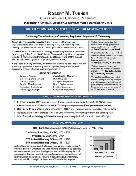 executive resume sles from top us award winning