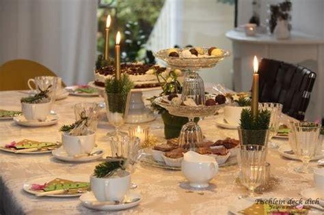 Weihnachtliche Kaffeetafel Im Advent  Tischlein Deck Dich