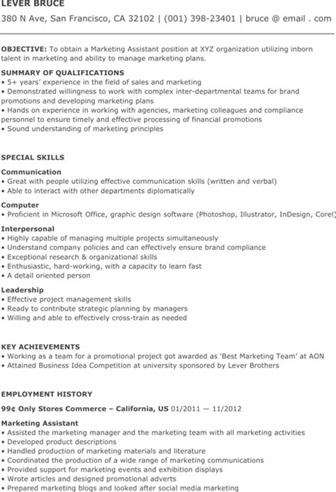 marketing coordinator resume templates for excel pdf and word
