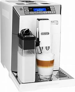 Kaffeevollautomat Mit Mahlwerk : de longhi kaffeevollautomat eletta ecam w hochglanz wei edelstahl gl nzend ~ Eleganceandgraceweddings.com Haus und Dekorationen