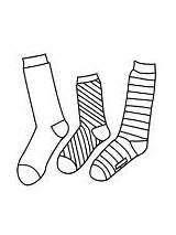 Pages Socks Coloring Mycoloring sketch template