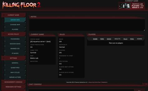 killing floor 2 dedicated server killing fllor 2 serverの建て方メモ 個人的メモ書き