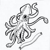 Squid Coloring Giant Drawing Colossal Clipartmag Printable Getdrawings Getcolorings sketch template